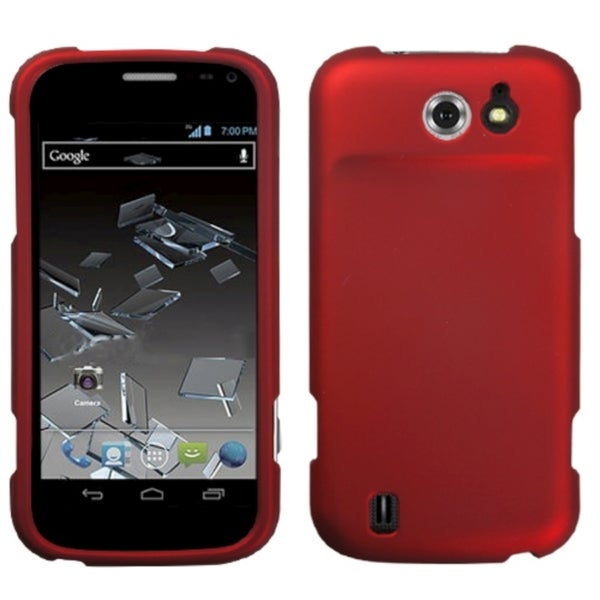 INSTEN Titanium Solid Red Phone Case Cover for ZTE N9500 Flash