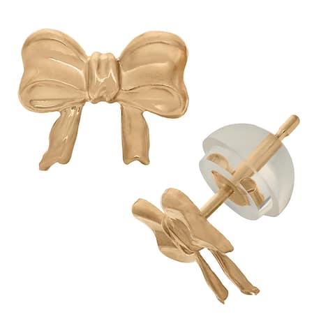 Junior Jewels 14k Gold Children's Bow Tie Stud Earrings