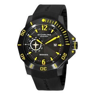 Stuhrling Original Men's QuarterMaster ADM Automatic Rubber Strap Watch