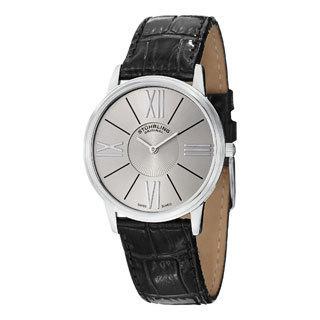 Stuhrling Original Men's Ascot Solei Quartz Leather Strap Watch
