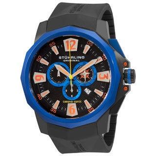 Stuhrling Original Men's Admiral Swiss Chronograph Rubber Strap Watch