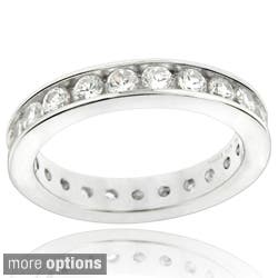 Icz Stonez Sterling Silver Cubic Zirconia Eternity Band Ring https://ak1.ostkcdn.com/images/products/8111022/Glitzy-Rocks-Sterling-Silver-Cubic-Zirconia-Eternity-Band-Ring-P15459455.jpg?impolicy=medium