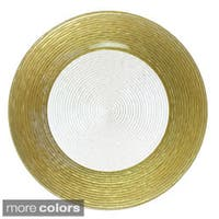 Circus Gold/ Silver Border 12.5-inch Charger