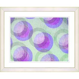 Zhee Singer 'Circle Series - Pastel Plum' White Framed Art Print