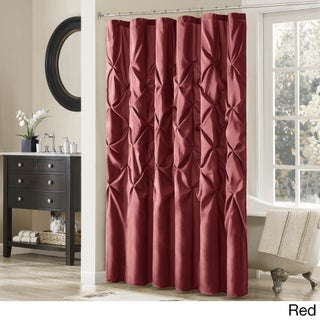 """Clay Alder Home Niantic Polyester Shower Curtain (Option: 72x72"""" - Red)"""