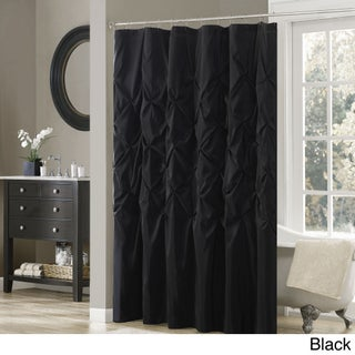 """Clay Alder Home Niantic Polyester Shower Curtain (Option: 72x72"""" - Black)"""