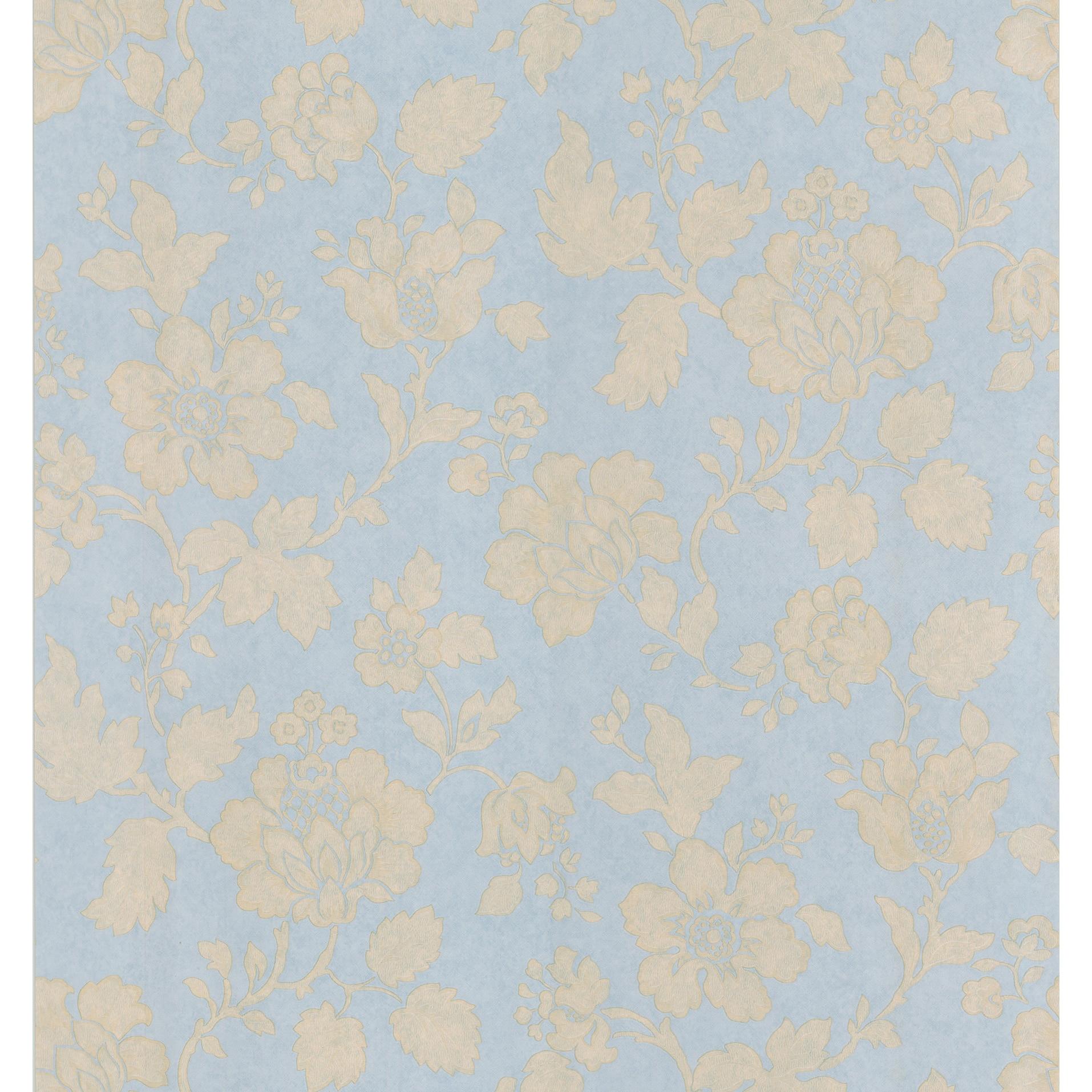 Shop Brewster Light Blue Floral Vine Wallpaper Overstock 8111117
