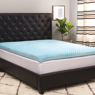 Link to Comforpedic Loft from Beautyrest 4-inch Sculpted Gel Memory Foam Mattress Topper with Polysilk Cover Similar Items in Mattress Pads & Toppers