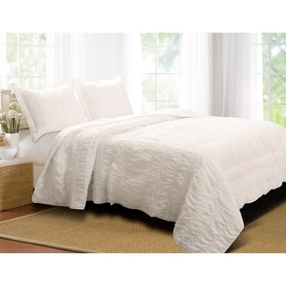 Greenland Home Fashions Tiana Country White 3-piece Quilt Set