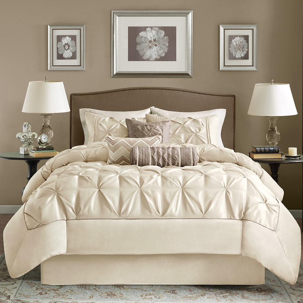 avalon dark ivory teal taupe sets comforter pin set queen piece
