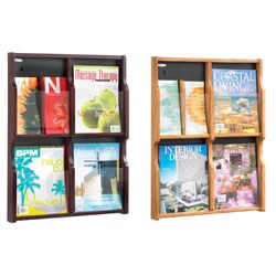 Safco Expose 4 Magazine, and 8 Pamphlet Literature Display