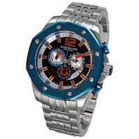 Stuhrling Original Men's Nautilus Chronograph Stainless-Steel Bracelet Quartz Watch