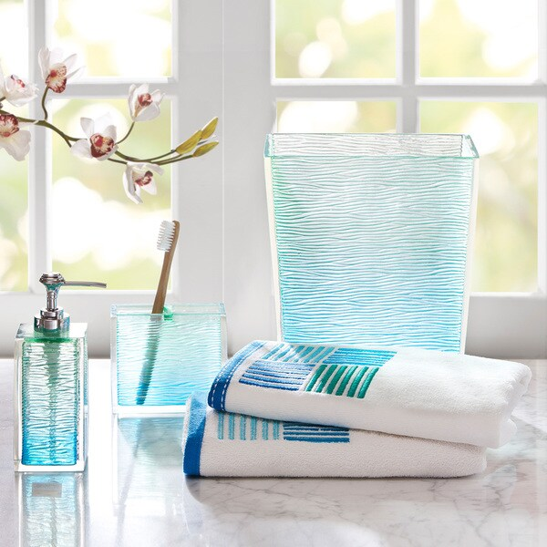 Bathroom Towels And Accessories: Shop Madison Park Seaglass Bath Accessory 5-piece Set
