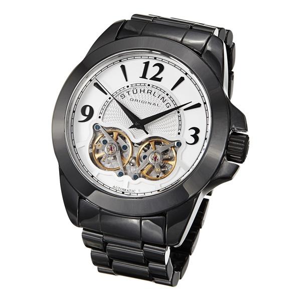 Stuhrling Original Men's Duplex Automatic Ceramic Bracelet Watch