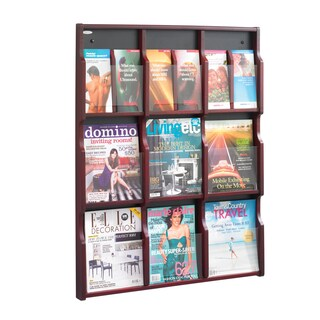 Safco Expose 9 Magazine, and 18 Pamphlet Literature Display