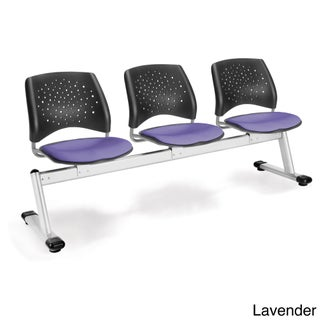 OFM Stars Series Model 323 3-Unit Beam Seating with 3 Fabric Seats