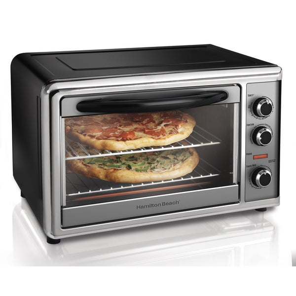 Hamilton Beach Black and Stainless Countertop Oven with Convection and Rotisserie 11312165