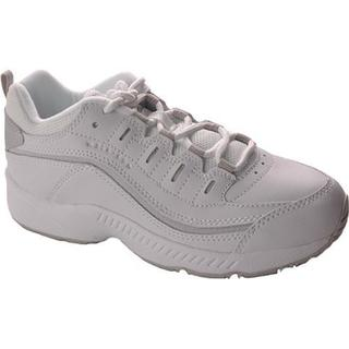 Women's Easy Spirit Romy White/Grey Leather