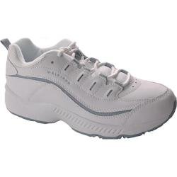 Women's Easy Spirit Romy White/Medium Blue Leather