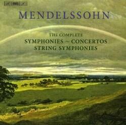 B.F. MENDELSSOHN - COMPLETE SYMPHONIES STRING SYMPHONIES & CONCERTOS
