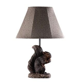 Somette Preparing for Winter Squirrel Lamp