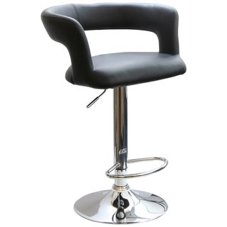 AmeriHome Adjustable Height Round Back Bar Stool