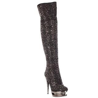 Pleaser Day & Night 'FASCINATE-3010' 6-inch Stiletto Dual Platform Knee Boots