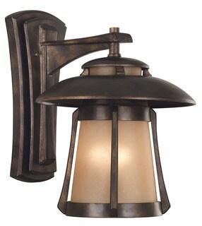 Rendall 3-light Golden Bronze Large Wall Lantern