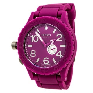 Nixon Women's 'Shocking Pink' Tide Watch