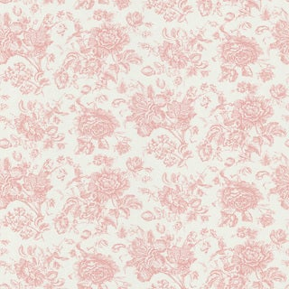 Brewster Pink Floral Toile Wallpaper Free Shipping On