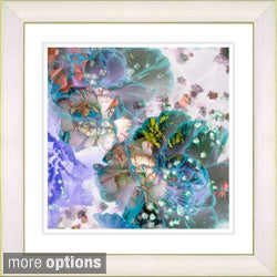 Studio Works Modern 'Scented Bloom - Caribbean Blue' Framed Art Print