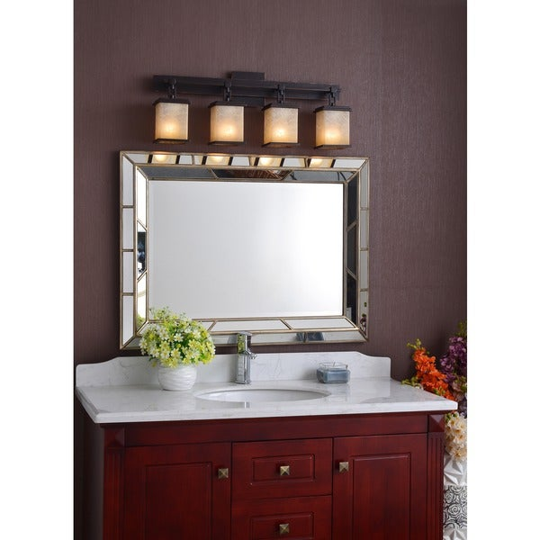 Design Craft Abriella 4 light Oil Rubbed Bronze Vanity Free
