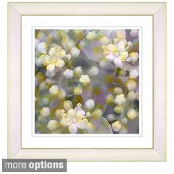 Studio Works Modern 'Popcorn Floral - Cream' Framed Art Print