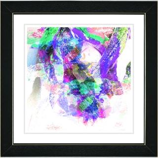 Studio Works Modern 'Rain Dance - Purple' Framed Art Print