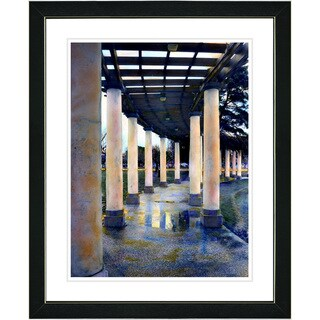 Studio Works Modern 'Raine Pillared Walkway' Framed Art Print
