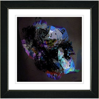 Studio Works Modern 'Voice of Zeus - Blue' Framed Art Print