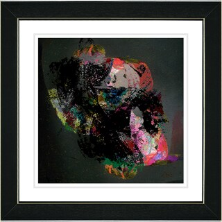 Studio Works Modern 'Voice of Zeus - Red' Framed Art Print