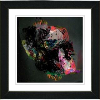 Studio Works Modern 'Voice of Zeus - Red' Framed Art Print