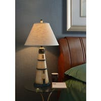 Havenside Home Stinson 1-light Antique White Table Lamp