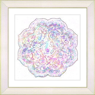 Studio Works Modern 'Platos - Alabaster Rose' Framed Art Print