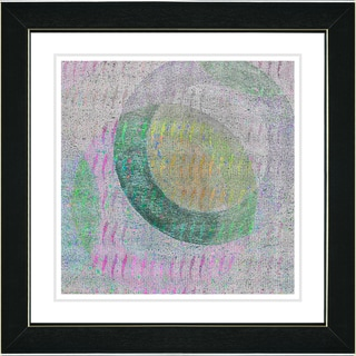 Studio Works Modern 'Moon Shadow - Green' Framed Art Print