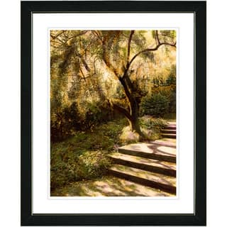 Studio Works Modern 'Tree with Steps' Framed Art Print|https://ak1.ostkcdn.com/images/products/8116975/Studio-Works-Modern-Tree-with-Steps-Framed-Art-Print-P15464506.jpg?impolicy=medium