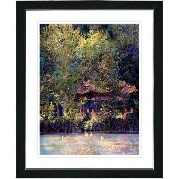 Studio Works Modern 'Lake Pagoda' Framed Art Print