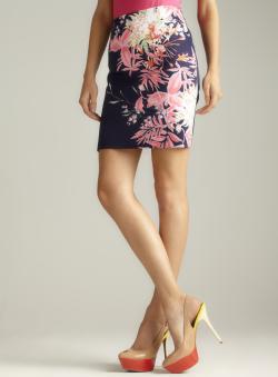 Tahari Floral Printed Elva Skirt