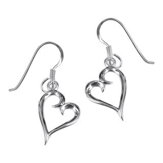 Silver Love Harmony Timeless Hearts Earrings (Thailand)