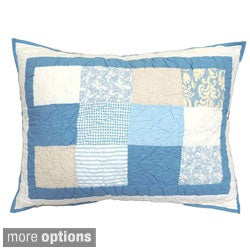 Oceanside Blue and White Quilted Sham