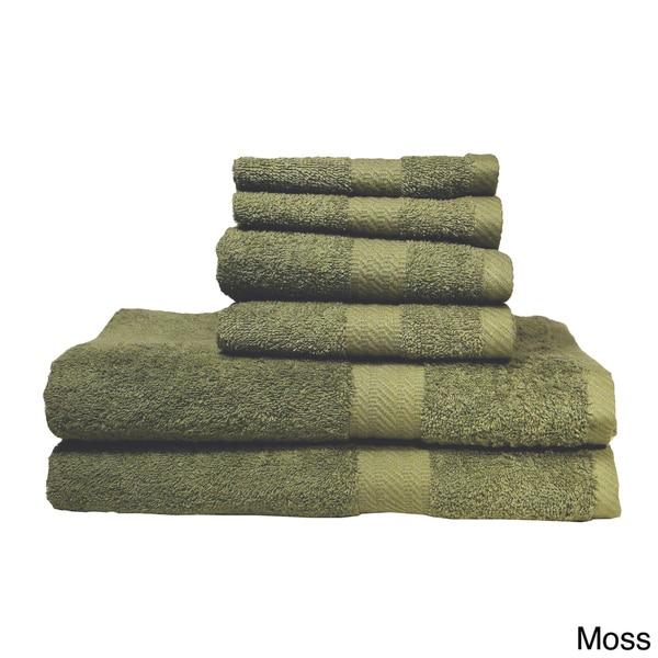 Baltic Linen Ringspun Cotton 6-piece Towel Set