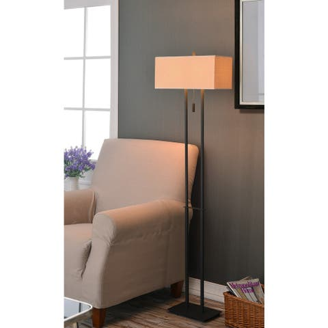 "Porch & Den Susitna 2-light 60-inch Floor Lamp - 7"" x 16"" shade/60"" H"