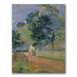 Paul Gauguin 'Landscape 1889' Canvas Art