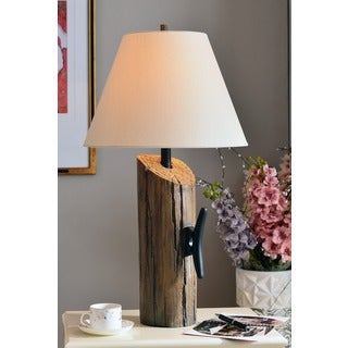 Pine Canopy Delta Table Lamp